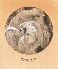 Mars - Alphonse Mucha - c. 1899.