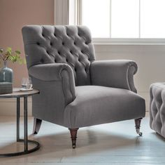 Lovely Grey Armchair 20 About Remodel Decorating Home Ideas with Grey Armchair Living Room Chairs, Living Room Furniture, Living Room Decor, Dining Room, Grey Armchair, Chesterfield Chair, Wingback Armchair, Contemporary Home Furniture, Fabric Armchairs