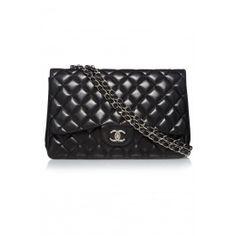 Chanel Leather Classic Flap Jumbo Bag