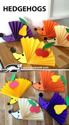 Basteln mit Kindern im Herbst - Helloween Igel A Quick Look at Depression and Teen Suicide An alarmi Kids Crafts, Fall Crafts For Kids, Preschool Crafts, Diy For Kids, Easy Crafts, Diy And Crafts, Origami Dog, Diy Paper, Paper Crafts