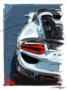 Car Iphone Wallpaper, Car Wallpapers, Route 66, Les Aliens, Espace Design, Cool Car Drawings, Car Logo Design, Porsche 356 Speedster, Car Illustration