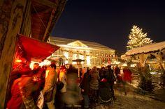 Traditional Christmas Market in Klagenfurt am Wörthersee. Klagenfurt, Traditional