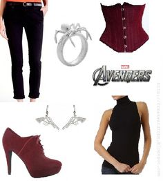 The Black Widow (The Avengers) inspired outfit - I love the boots and the corset <3