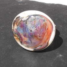 Bag.0980 bague réglable en verre de murano