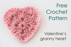 Free Crochet Pattern - Valentine's Granny Heart at The Spotted Hook. ❤CQ crochet hearts valentines
