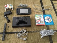 Nintendo Wii U 32GB Black Console Bundle Smash Bros Pro Gamecube Adapter Gamepad - http://video-games.goshoppins.com/video-game-consoles/nintendo-wii-u-32gb-black-console-bundle-smash-bros-pro-gamecube-adapter-gamepad/