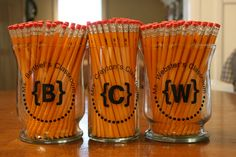 So cute for a first day of school teacher gift idea. Would also be cute to bring Christmas Pencils for the classroom during December.