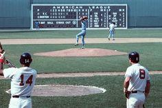 Jim Rice and Carl Yastrzemski at Fenway v KC Jim Rice, Fenway Park, Boston Red Sox, Baseball Field, American, Sports, Hs Sports, Sport