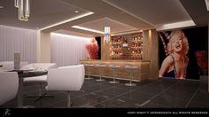 Bar tasarımı Soyiç otel Ve Marilyn Monroe