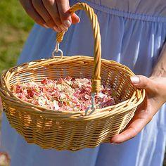 Flower Girl Basket Of Natural Petal Confetti