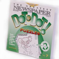 Dot-to-Dot Book-Travel Size Vol.7  $5.95 challenging puzzles & a variety of types