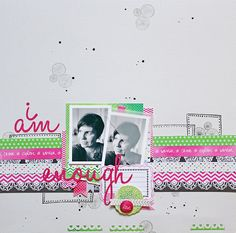 I am enough by Lilith Eeckels using the Amy Tangerine Sketchbook collection by American Crafts.
