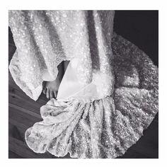KAREN WILLIS HOLMES 'Maria' gown. #karenwillisholmes #kwhbridal #sequinedweddingdress #weddingdress #realbride