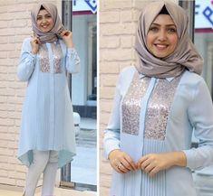 Iranian Women Fashion, Islamic Fashion, Muslim Fashion, Fashion Wear, Fashion Dresses, Hijab Style Tutorial, Cheap Formal Dresses, Designer Party Wear Dresses, Hijab Fashion Inspiration