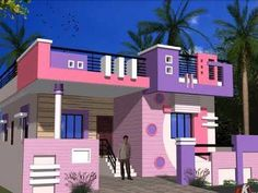 18 Rumah Minimalis India Ideas House Front Design Small House Elevation Design Single Floor House Design
