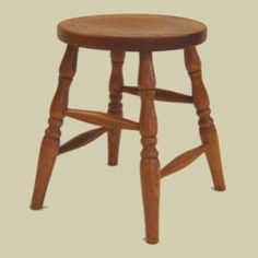 """Heritage Colonial Round Seat Stool (18"""")"""