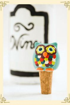 a wise old owl with a glass of wine......the perfect evening:)