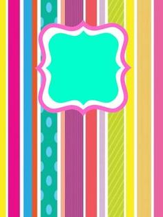 Free Fun Stripe Binder Cover (Editable)