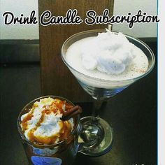 Monthly Goodies:Drink Candle subscription by MelissasCandleBakery