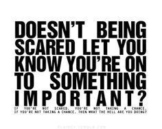 Scare yourself.