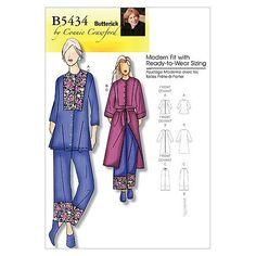 Butterick Patterns B5434 Misses'/Women's Top, Robe, Belt And Pants, Size WOMAN (XXL-1X-2X-3X-4X-5X-6X), http://www.amazon.com/dp/B003DLQEPI/ref=cm_sw_r_pi_awd_Z-Qzsb10DFN0Z