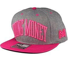 9602762aed94f Boné Young Money Moleton Snapback Cinza-Rosa - Loja Boné Mania
