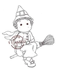 The Rubber Buggy  - Magnolia FLYING WITCH TILDA Rubber Stamp, $13.99 (http://www.therubberbuggy.com/magnolia-flying-witch-tilda-rubber-stamp/)