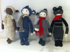 LUPO, DIRK, KIRA, ROCO made by Maribel G. / crochet pattern by lalylala by patrica