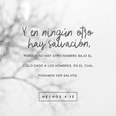 Y en ningún otro hay salvación; porque no hay otro nombre bajo el cielo, dado a los hombres, en que podamos ser salvos.