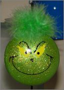 DIY grinch ornament. I have to make this for my dad!