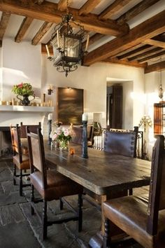 59 Best Rustic Dining Room Design Ideas - Page 9 of 59 - Decorating Ideas - Home Decor Ideas and Tips Antique Interior, Home Interior, Interior Design, Home Design, Modern Interior, Spanish Interior, Interior Ideas, Style Toscan, Style At Home