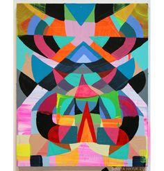 Maya Hayuk Maya Hayuk, Graffiti, Street Art, Illustration Art, Illustrations, Middle School Art, Art Pop, Sculpture, Geometric Art