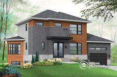 À la recherche d'un plan de maison moderne offrant un sous-sol avec logement ?   Regardez ce modèle ... http://www.dessinsdrummond.com/detail-plan-de-maison/info/1003134.html