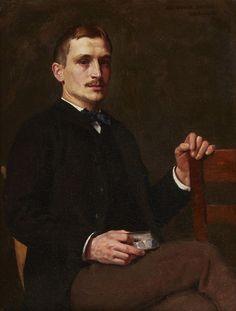 Dennis Miller Bunker (American, 1861-1890) Portrait of Doctor Royal Whitman (1858-1946) (1885) oil on canvas laid down on board 12 x 9 ¼ in