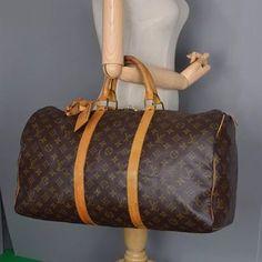 43123bc5b813 Louis Vuitton Keepall Luggage Monogram Travel Bag Weekend Travel Bag