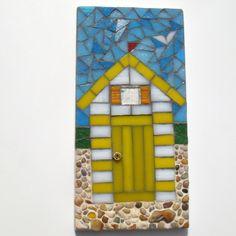 Mosaic Beach Hut Wall Plaque