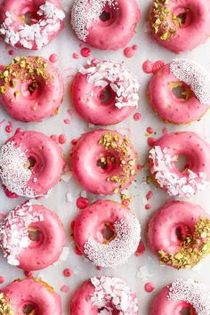 Coconut Raspberry Donuts   The Sweet & Simple Kitchen