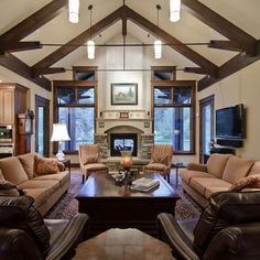 Rustic Livingroom Design, Pictures, Remodel, Decor and Ideas - page 9
