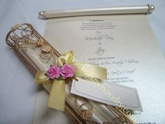 Unique wedding invitations wedding scroll invitations scroll metal scroll holder for your wedding and other special occasion filipino kasalang manila stopboris Choice Image