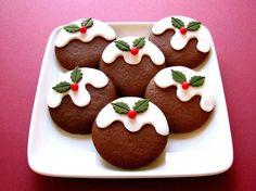 Christmas Pudding Cookies. Too | http://freshfruitrecipetips.blogspot.com