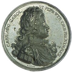 Karl VI. 1711 - 1740 Zinnmedaille 1712  Med: Warou, auf die Erneuerung des Vlies Ordens