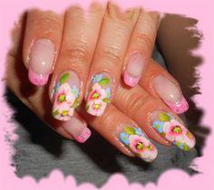 pink flowers by Danska - Nail Art Gallery nailartgallery.nailsmag.com by Nails Magazine www.nailsmag.com #nailart