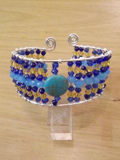 Walk like a Egyptian - Jewelry creation by Sarah Lane Turquoise Gemstone, Gemstone Jewelry, Beaded Jewelry, Jewelry Ideas, Jewelry Design, Cuff Bracelets, Bangles, Egyptian Jewelry, Belly Button Rings