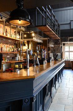 Bar Design - could turn the bar area into the new kitchen Pub Design, Back Bar Design, Bar Counter Design, Bar Interior Design, Restaurant Interior Design, Sport Bar Design, Pub Bar, Café Bar, Coffee Shop Bar