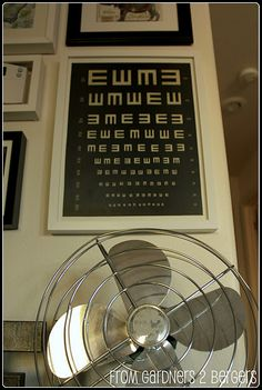 """DIY project. Clone a Restoration Hardware """"E"""" Eye Chart, which sells for a mere $345 to 595!"""
