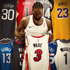 "Fan Apparel & Souvenirs Delicious Bleacher Report Black ""wade County"" Jersey For Fast Shipping Men's Clothing"