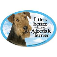 Prismatix Decal Cat and Dog Magnets Airedale Terrier ** Click image to review more details.(This is an Amazon affiliate link)