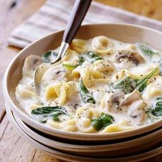 Creamy Tortellini Soup from Better Homes and Gardens Top Vegetarian Slow-Cooker Recipes