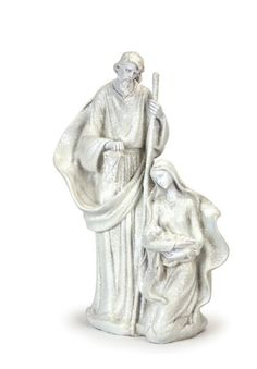 Holy Family Figurine #Jesus #Joseph #Mary #white #glitter