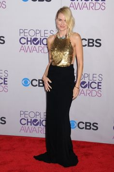 Naomi Watts in McQueen 2013 People's Choice Awards Best Dressed Celebrities Photos - FLARE